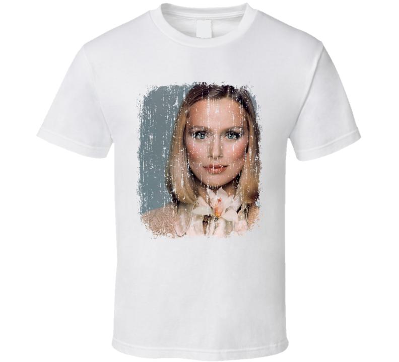 Lauren Hutton 70s Celebrity Icon Sexy Vintage Worn Look T Shirt