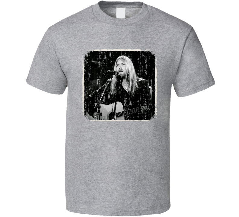 Gregg Allman 70s Celebrity Icon Sexy Vintage Worn Look T Shirt
