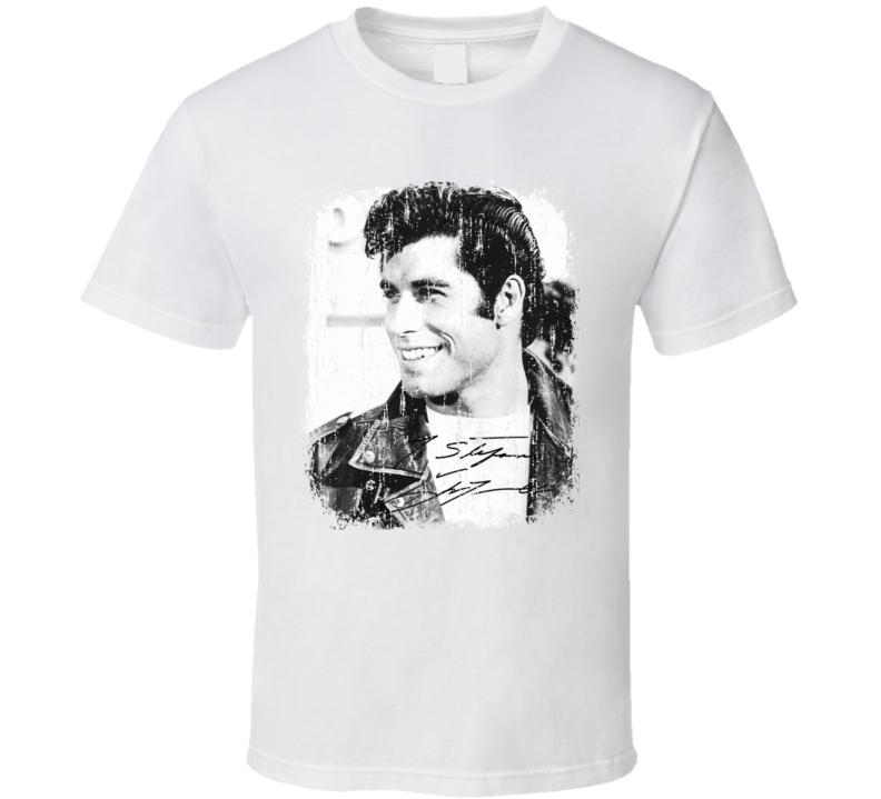 John Travolta 70s Celebrity Icon Sexy Vintage Worn Look T Shirt
