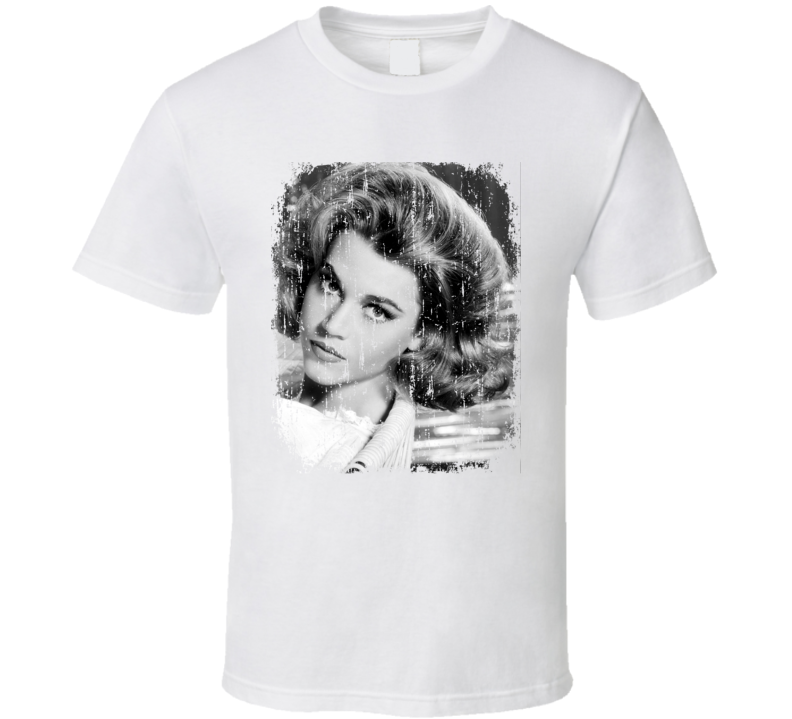 Jane Fonda 70s Celebrity Icon Sexy Vintage Worn Look T Shirt