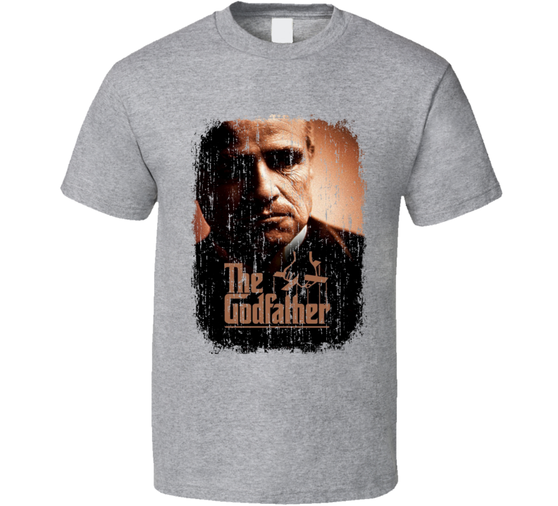 The Godfather 70's Classic Crime Movie Poster Worn Look Cool T Shirt