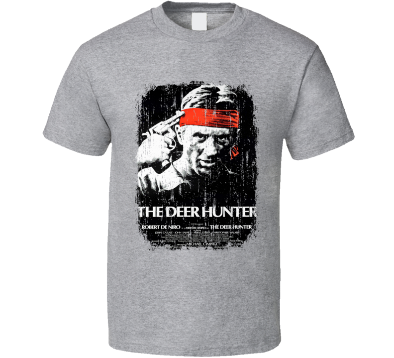 The Deer Hunter 70's Classic Movie Poster Worn Look Cool T Shirt