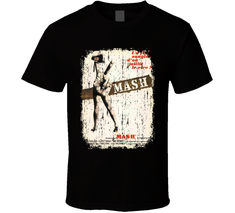 MASH 70's Classic Comedy Movie Vintage Poster Worn Look Cool T Shirt