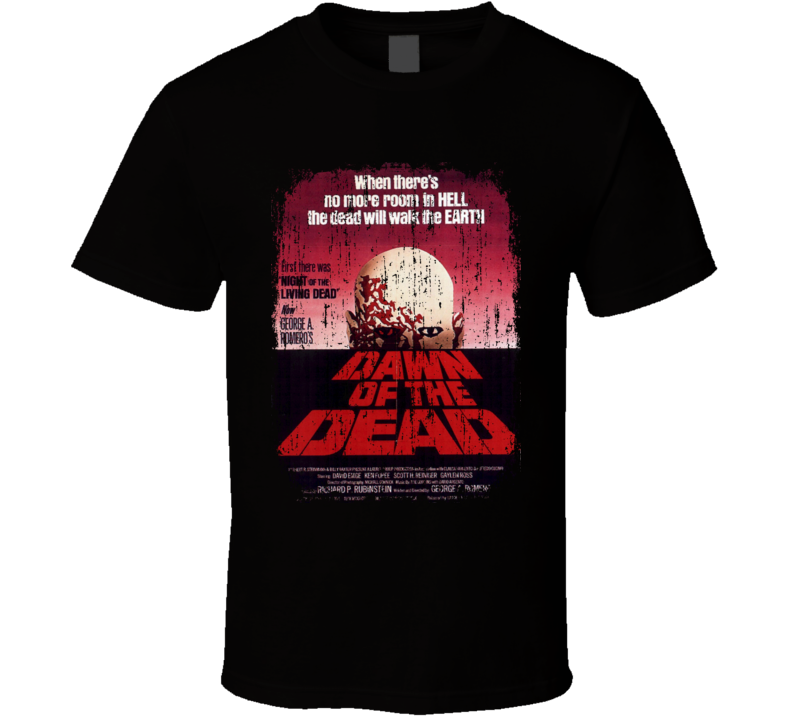 Dawn of the Dead 70's Classic Movie Vintage Poster Worn Look T Shirt