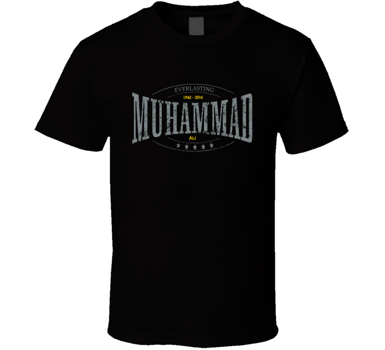 Muhammad Ali The Greatest Boxing Everlasting Tribute Worn Look T Shirt
