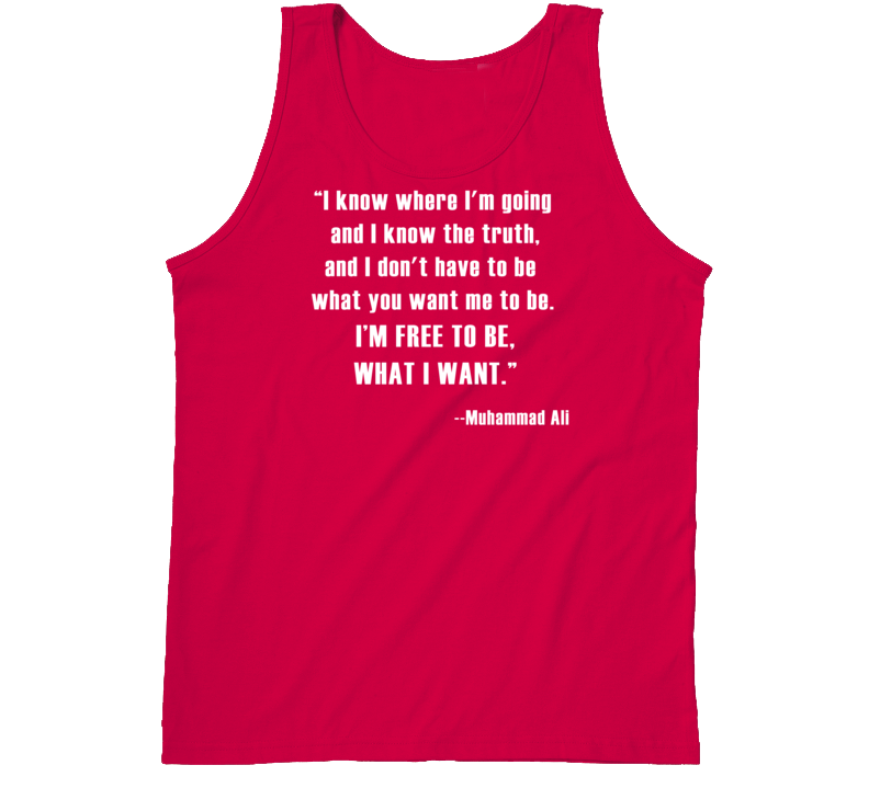 Muhammad Ali Know Where I'm Going Free To Be Boxing Faded Look Tanktop