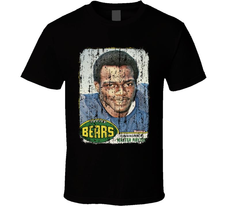 1976 Walter Payton Vintage Football Trading Card Worn Look T Shirt
