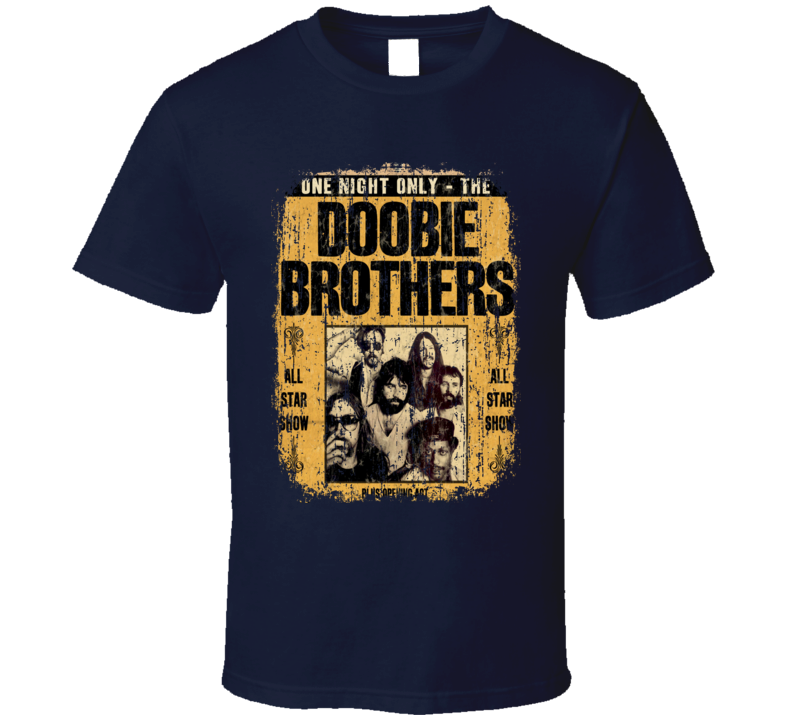 Doobie Brothers Rock Music Celebrity Tribute Poster Worn Look T Shirt