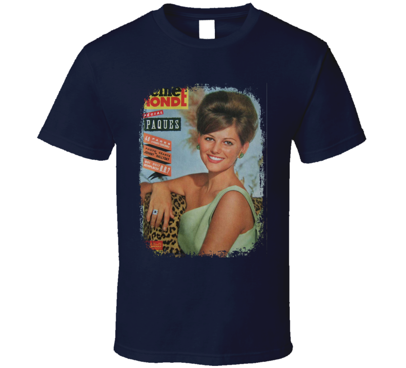 Claudia Cardinale Actress Magazine Cover Tribute Worn Look T Shirt