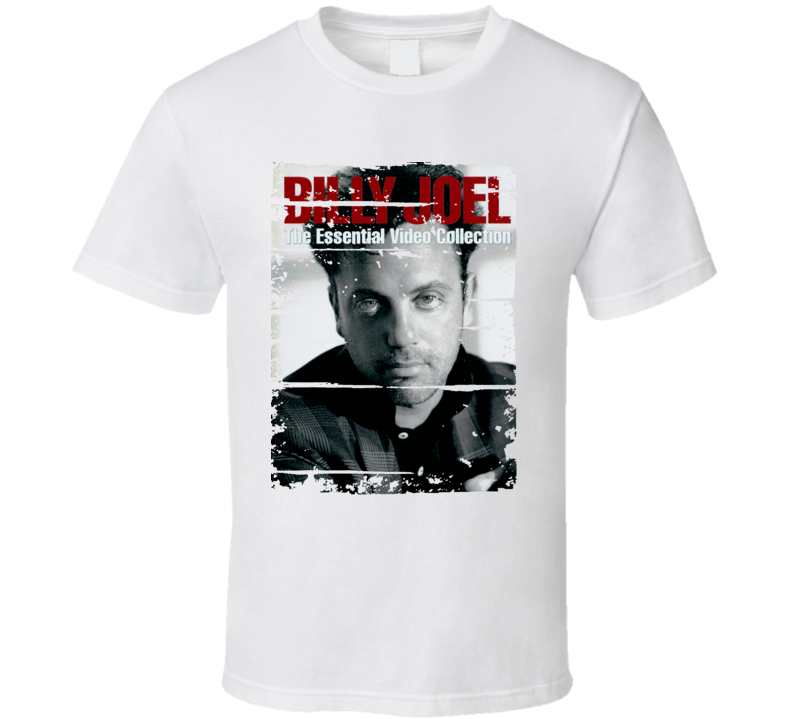 Billy Joel Pianist The Essential Album Cover Tribute Worn Look T Shirt