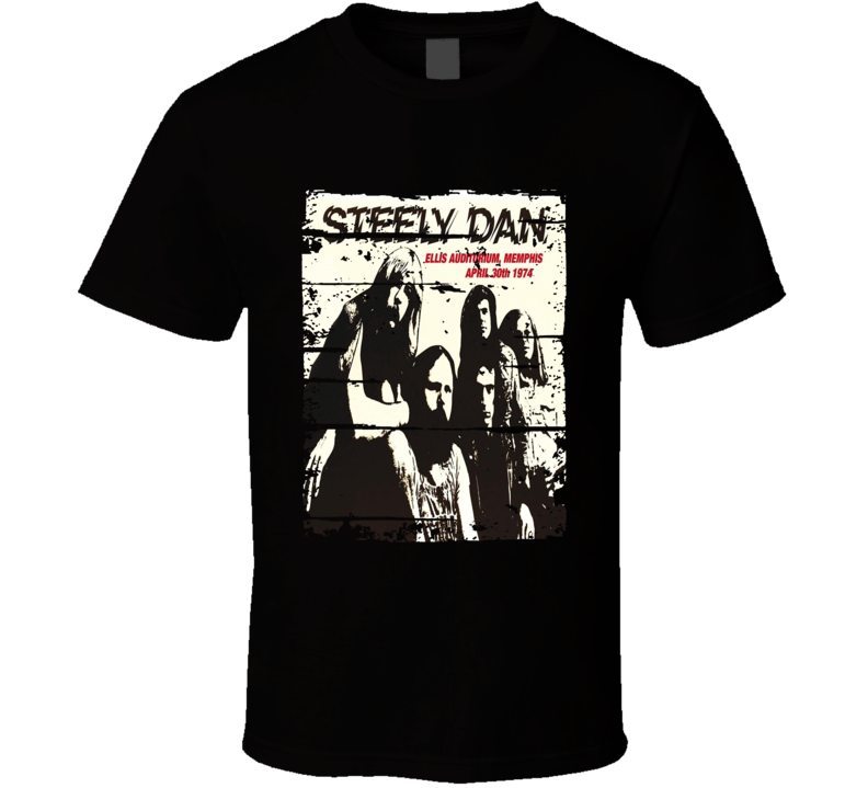 Steely Dan Jazz Music Celebrity Tribute Album Cover Worn Look T Shirt