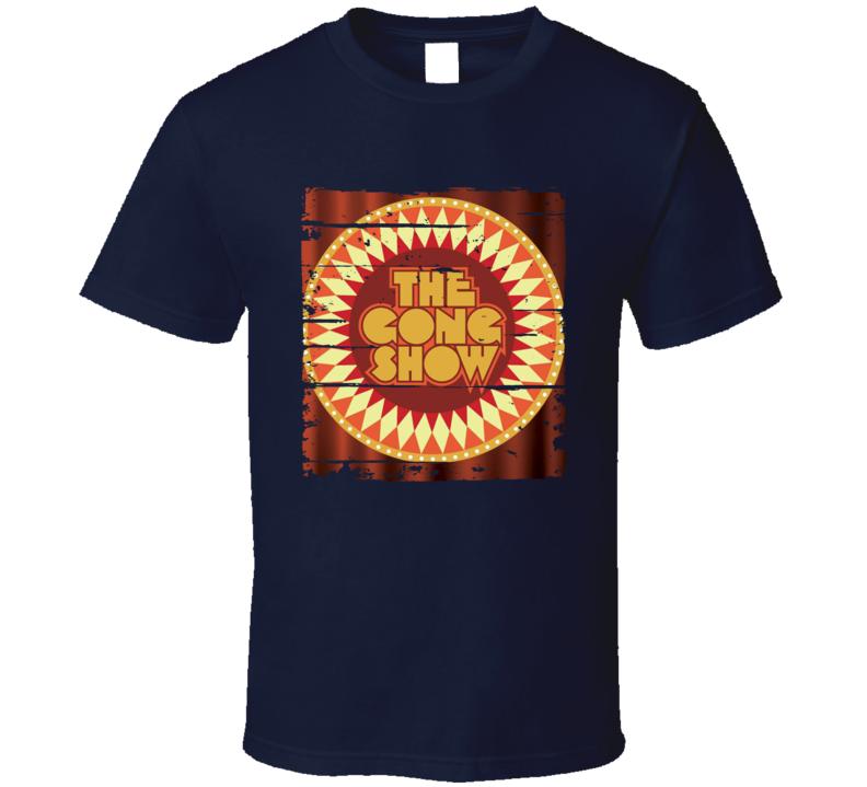 The Gong Show 70s TV Show Chuck Barris Memorial Worn Look T Shirt