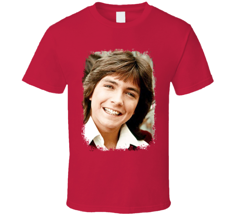 David Cassidy 70s Sex Icon Memorial Partridge Family Worn Look T Shirt