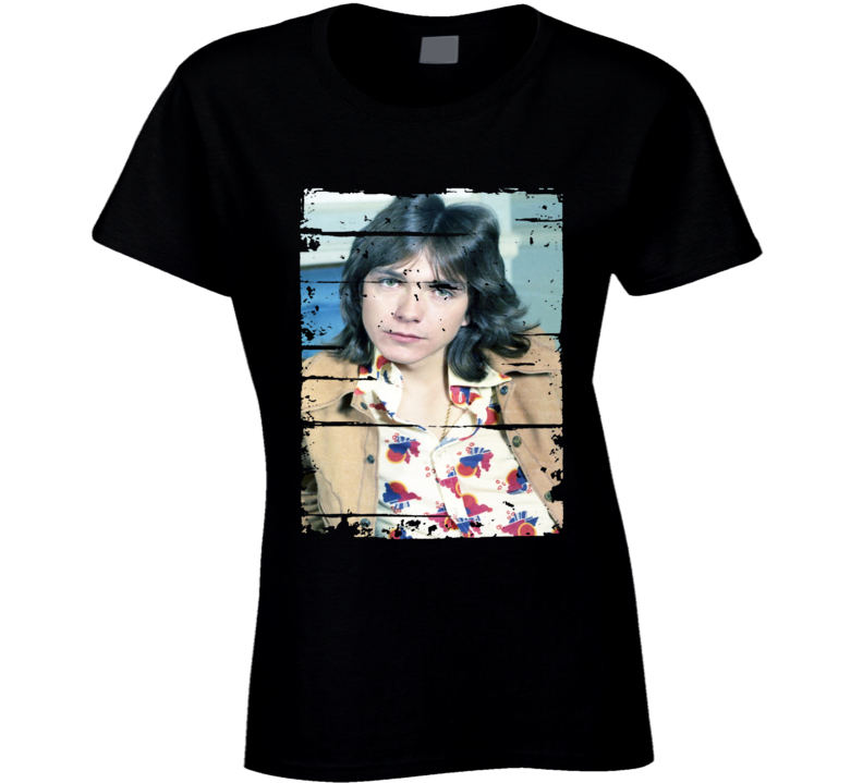 David Cassidy 70s Celebrity Sex Icon Memorial Tribute Worn Look T Shirt