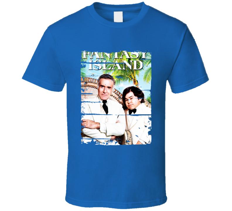 Fantasy Island 70s Tv Show Cool Classic Worn Look Retro T Shirt