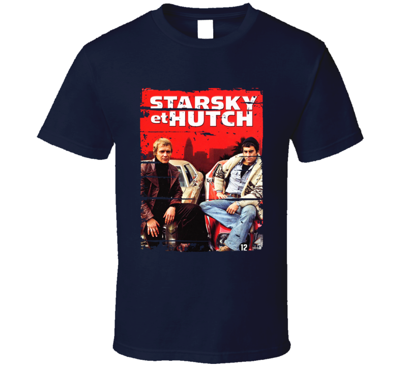 Starsky And Hutch 70s Tv Show Cool Classic Worn Look Retro T Shirt