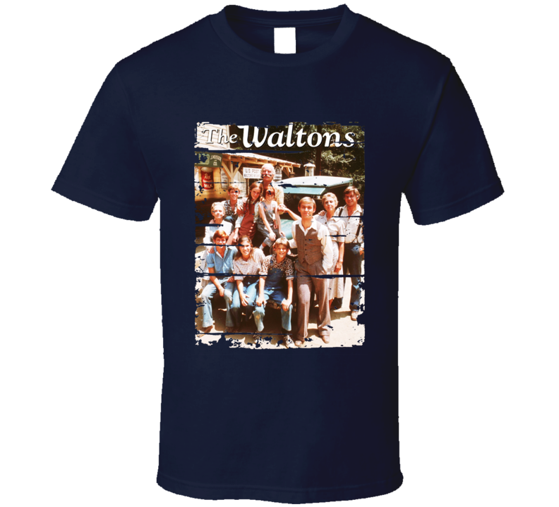 The Waltons 70s Tv Show Cool Classic Worn Look Retro T Shirt
