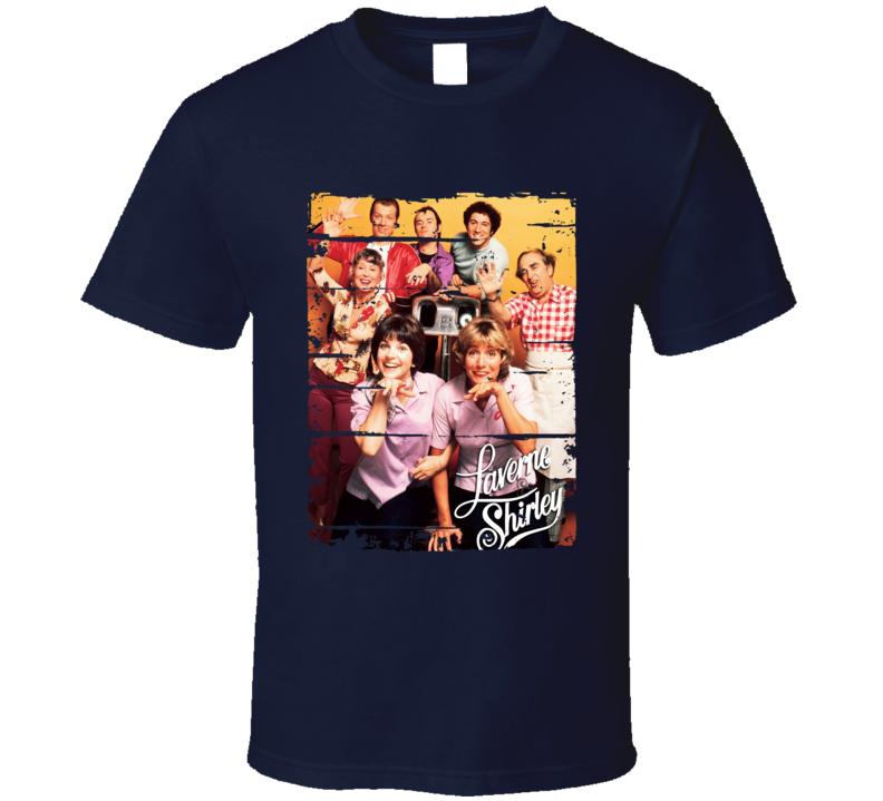 Laverne & Shirley 70s Tv Show Cool Classic Worn Look Retro T Shirt