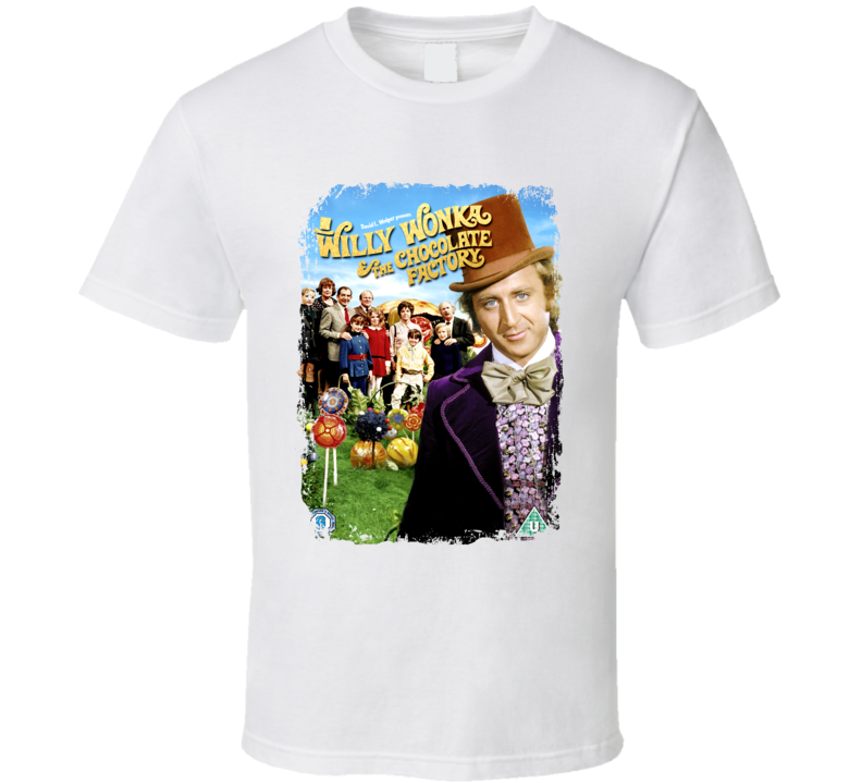 Willy Wonka And the Chocolate Factory Great 70s Movie T shirt