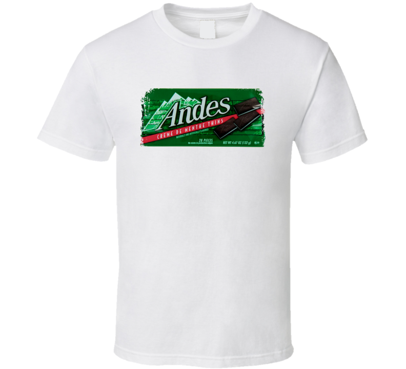 Andes Mints 70s Candies T shirt