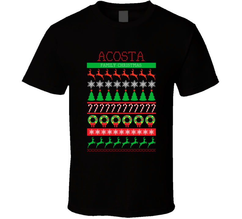 Acosta Family Christmas Ugly Sweater Funny Gift T Shirt
