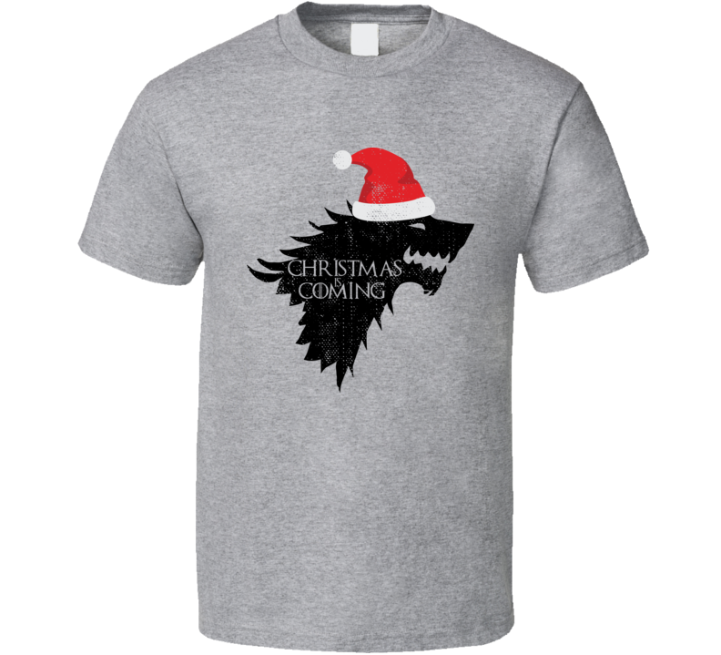 Christmas Is Coming Funny Winter Game Of Thrones GoT Worn Look T Shirt