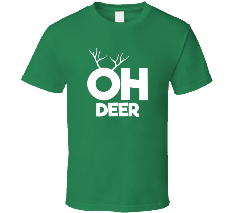 Oh Deer Dear Cute Christmas T Shirt
