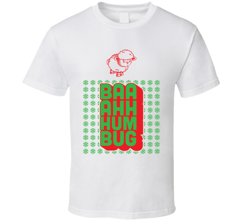 Baaahh Humbug Cute Funny Christmas Sheep Lamb T Shirt
