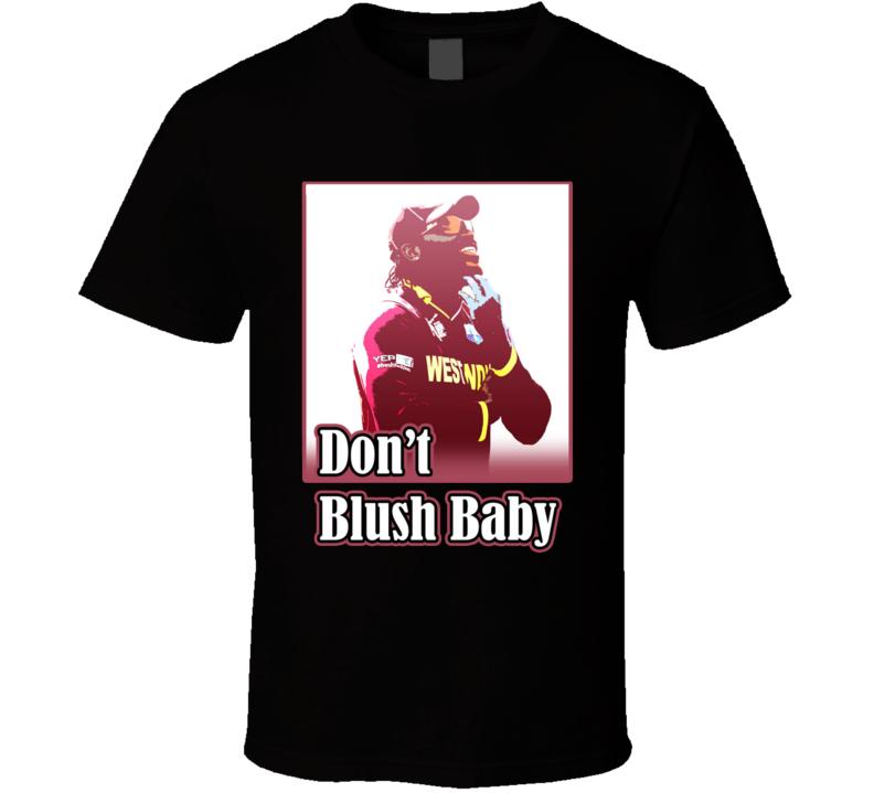 Chris Gayle Cricketer Don't Blush Baby T Shirt