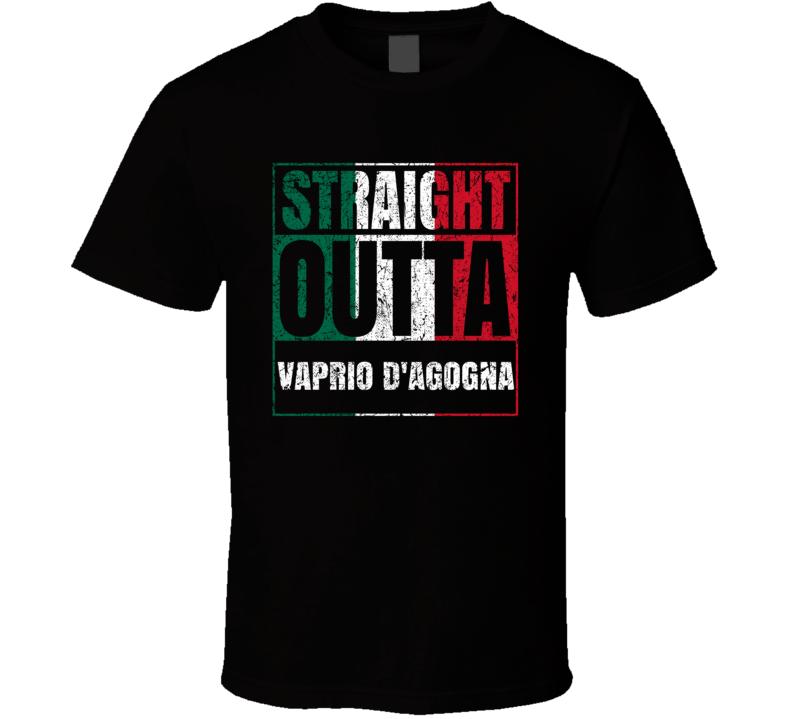 Straight Outta Vaprio d'Agogna Italy Italian City Worn Look Grungy T Shirt