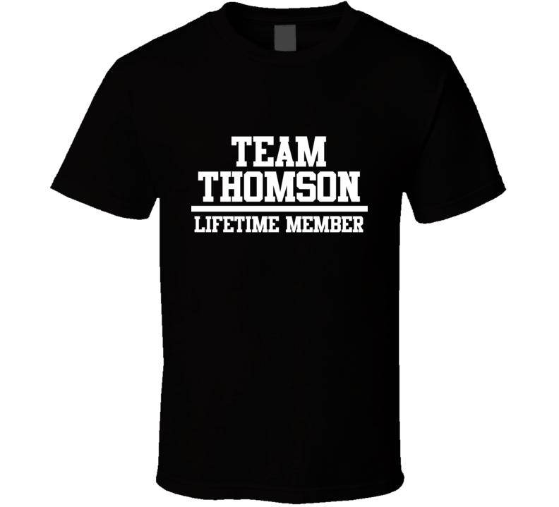 Team Thomson Lifetime Member Family Name Pride T Shirt