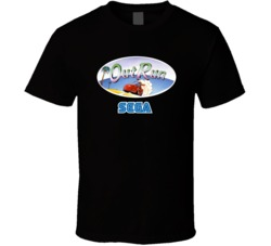 Out Run Classic Sega Video Game T Shirt