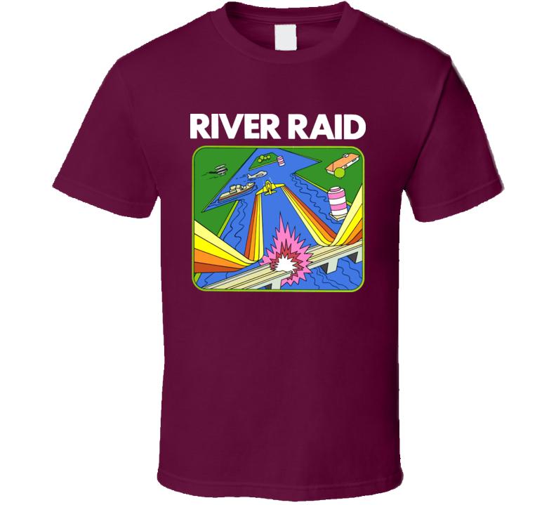 Atari River Raid Box Art Video Game T Shirt