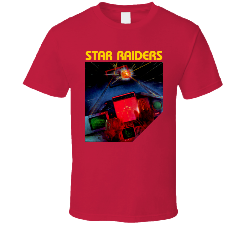 Atari Star Raiders Box Art Video Game T Shirt