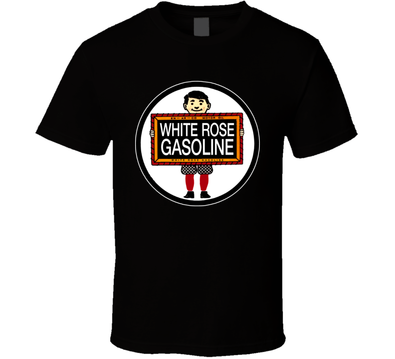 White Rose Gasoline Logo Retro T Shirt