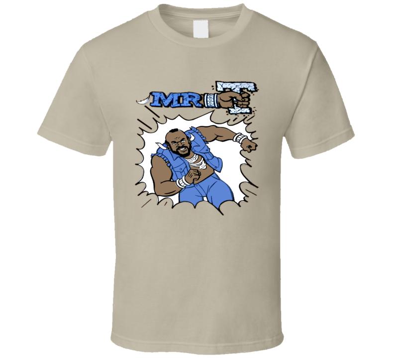 Mr T Retro Cartoon T Shirt