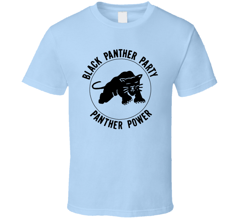 Black Panther Party Power T Shirt - Light Blue