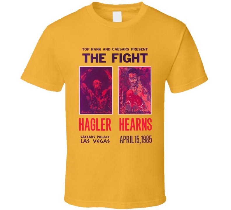 Hearns Vs Hagler Boxing Poster T Shirt
