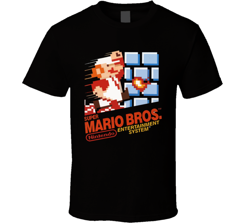 Super Mario Bros Nes Box Art T Shirt
