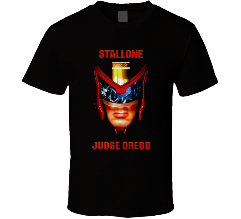 Judge Dredd Stallone 90's Action Movie T Shirt