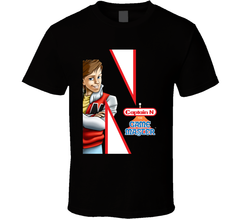 Captain N The Game Master Nes Cartoon T Shirt