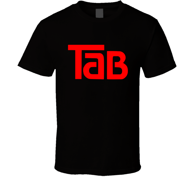 Tab Cola Retro 80's Soft Drink Black T Shirt