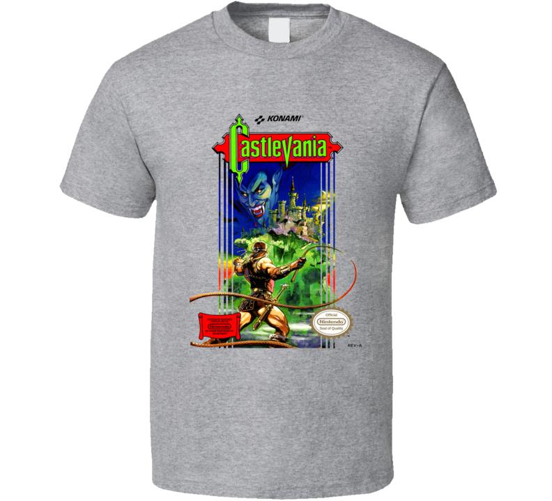 Castlevania Nes Box Art Video Game T Shirt