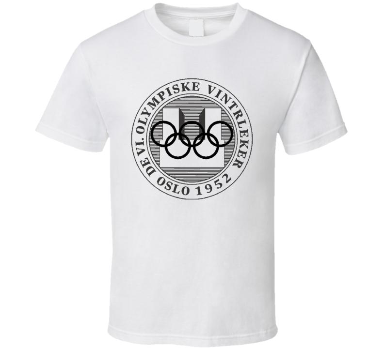 Oslo 1952 Winter Olympics Logo T Shirt