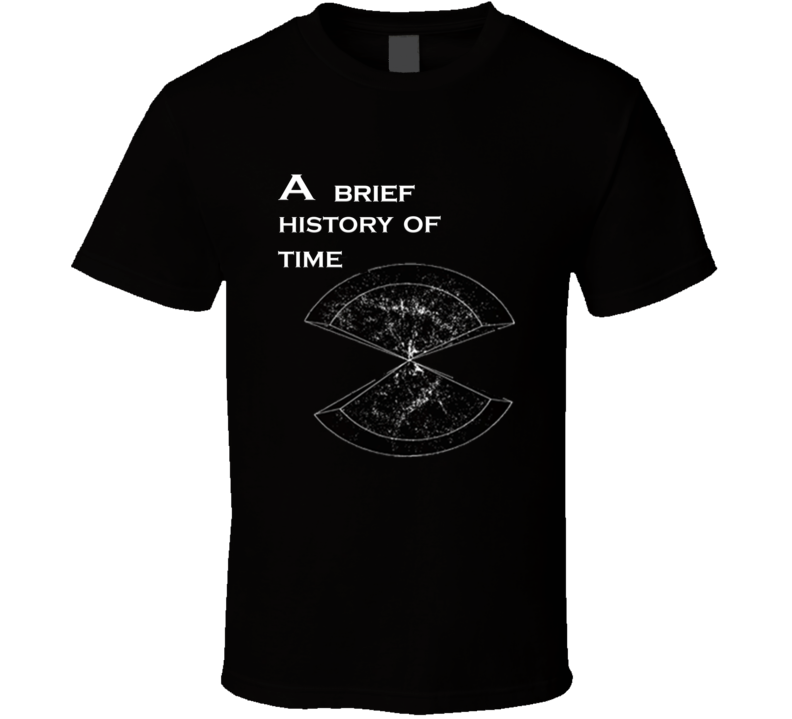 A Brief History Of Time Stephen Hawking Novel T Shirt