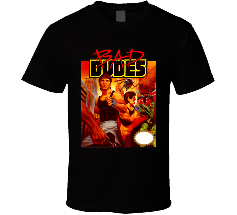 Bad Dudes Nes Game Box Art Video Game T Shirt