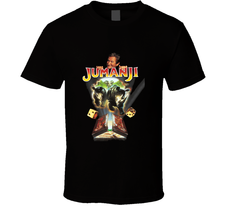Jumanji Robin Williams Retro Adventure Movie T Shirt