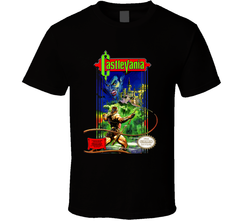 Castlevania Nes Box Art Video Game T Shirt