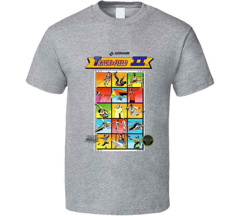Track And Field 2 Nes Box Art Video Game T Shirt