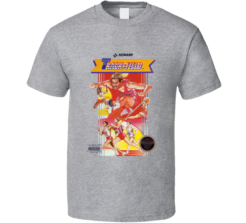 Track And Field Nes Box Art Video Game T Shirt
